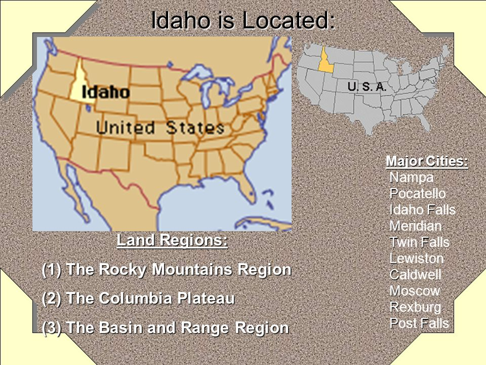 My State is: Idaho Capital City Capital City: BoiseBoise Admission to StatehoodAdmission to Statehood: July 3, 1890July 3, 1890 Border States Border S