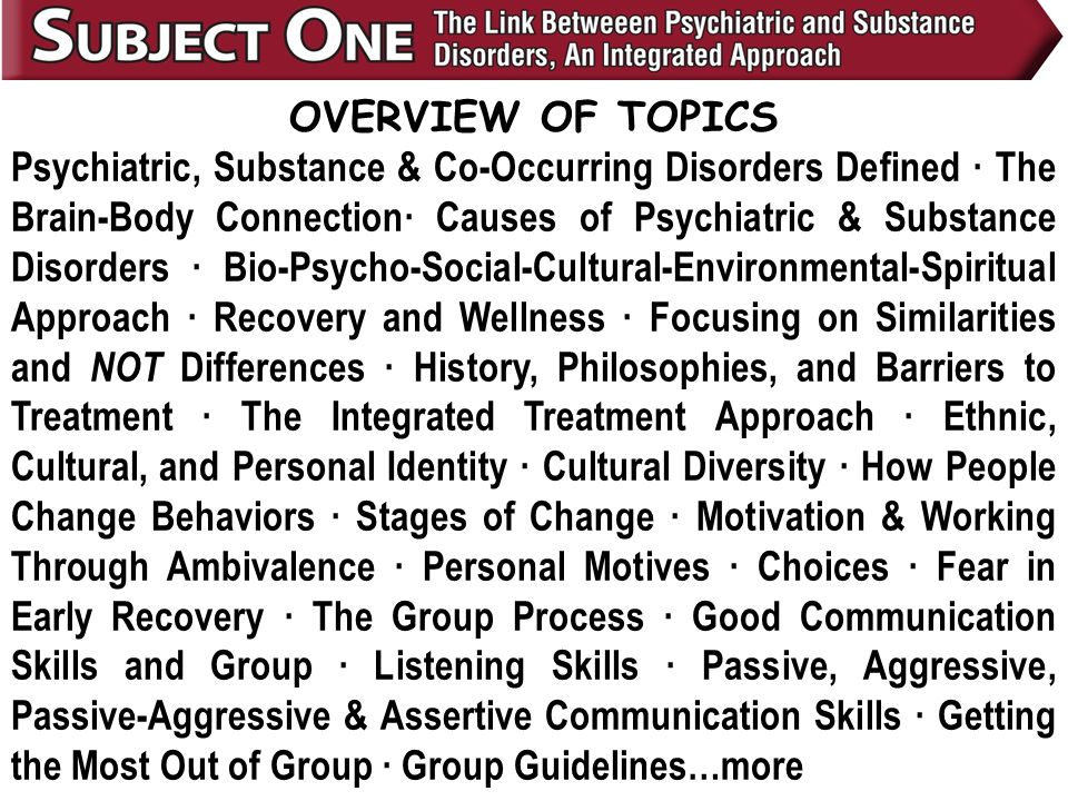 Printables Co-occurring Disorders Worksheets the link between psychiatric and substance disorders an overview of topics co occurring defined brain