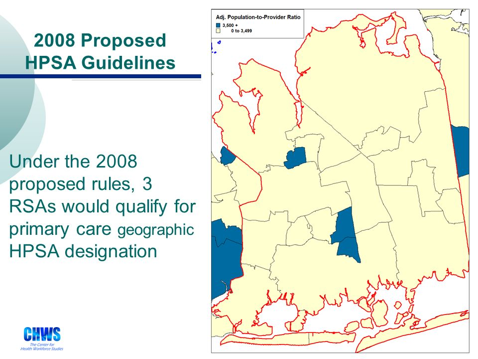 25 Current Geographic HPSA Guidelines Under current rules, 3 RSAs would qualify for primary care geographic HPSA designation serving a population of 40,000 0 geographic HPSAs currently in the region