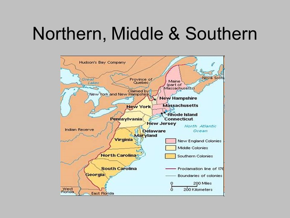 Northern, Middle & Southern