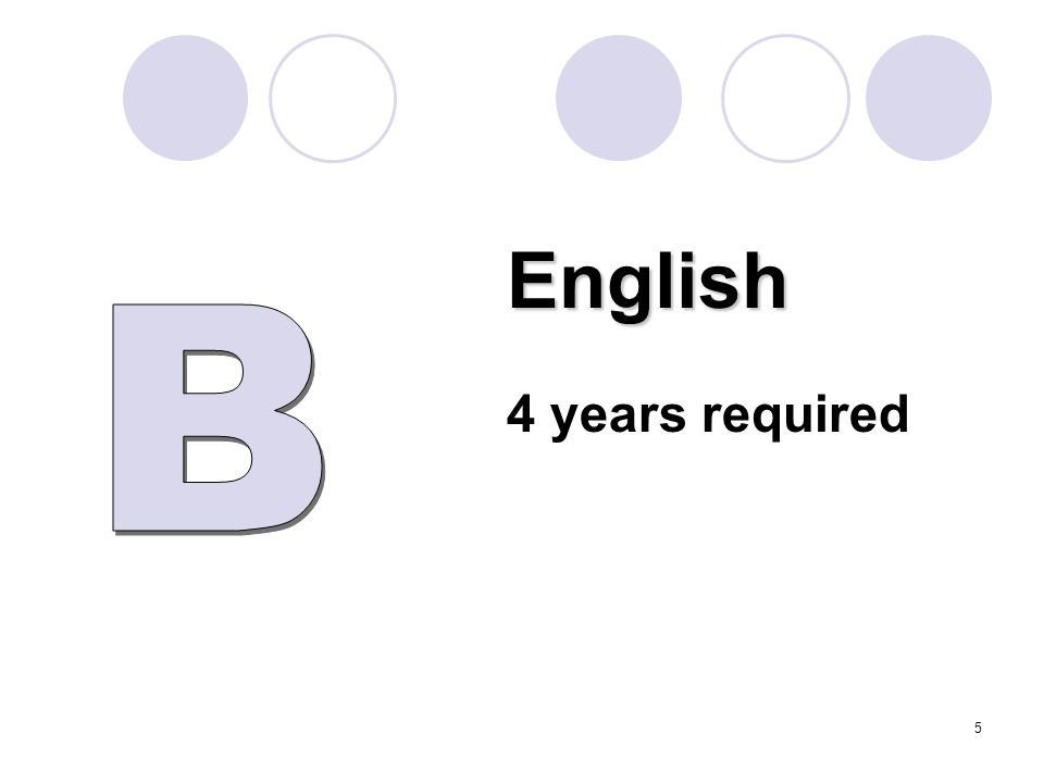 English 4 years required 5