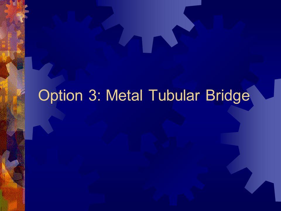 Option 3: Metal Tubular Bridge