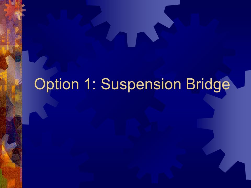 Option 1: Suspension Bridge