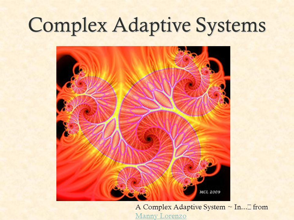 Complex Adaptive Systems A Complex Adaptive System ~ In... from Manny Lorenzo Manny Lorenzo