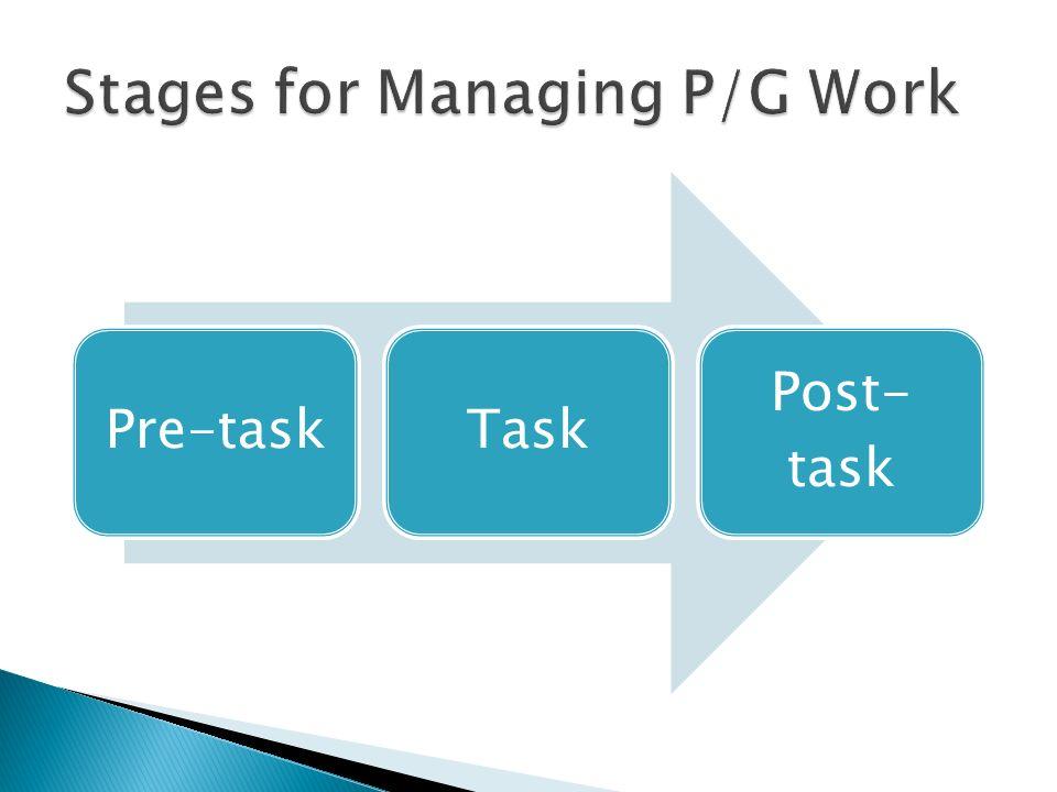 Pre-taskTask Post- task
