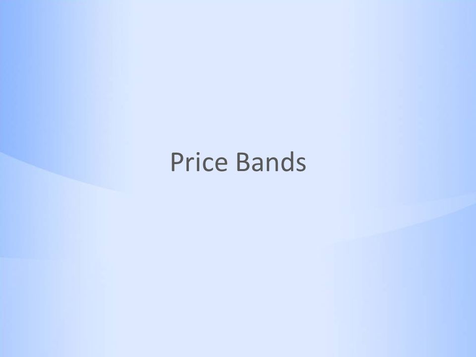 Price Bands
