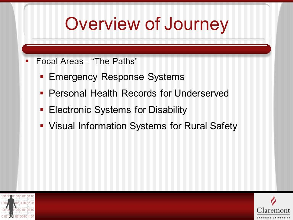 Overview of Journey Focal AreasThe Bread.