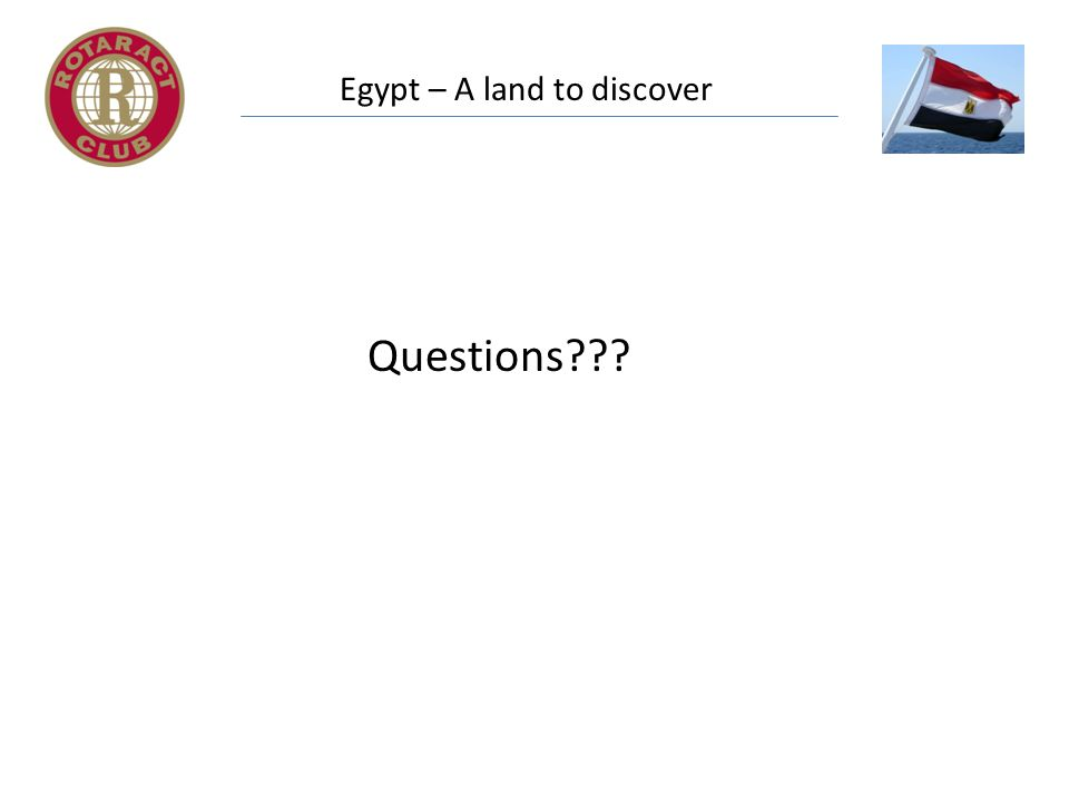 Egypt – A land to discover Questions