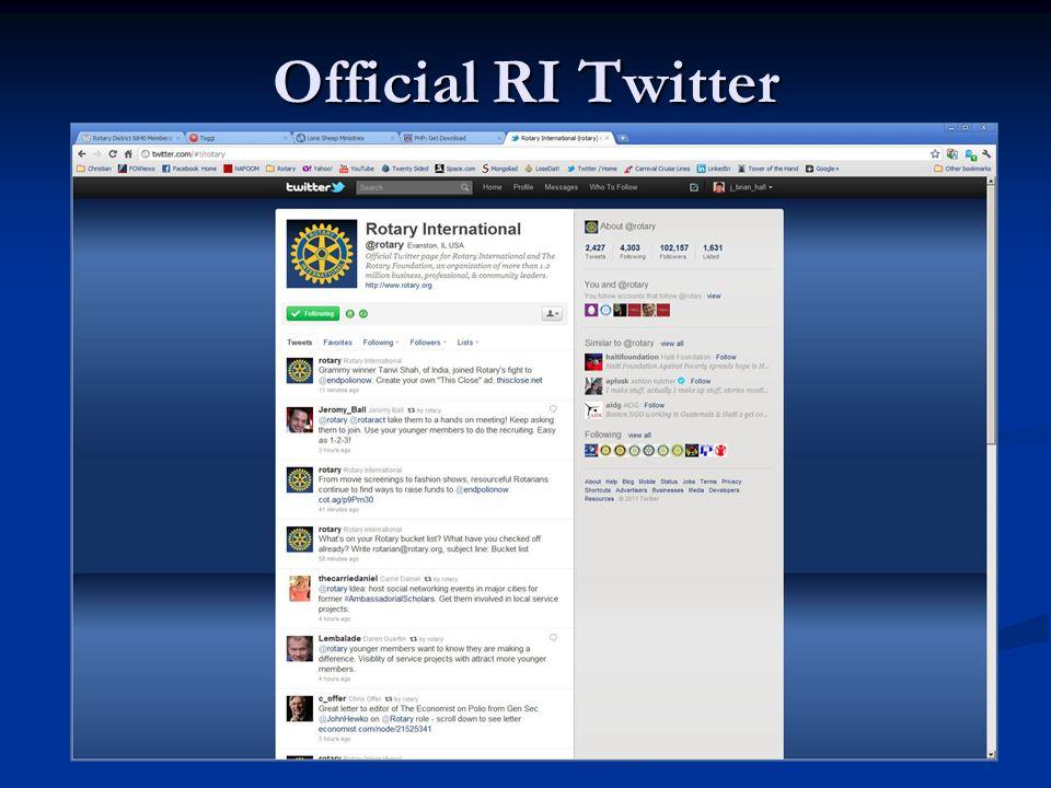 Official RI Twitter
