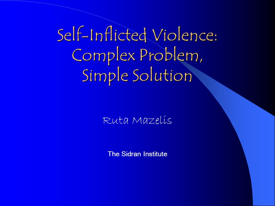 The greatest impediments to useful and effective responses to self- injury are the feelings and reactions of helping professionals.