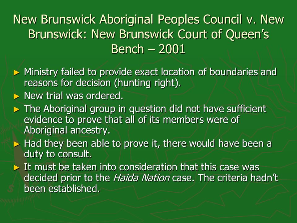 New Brunswick Aboriginal Peoples Council v.