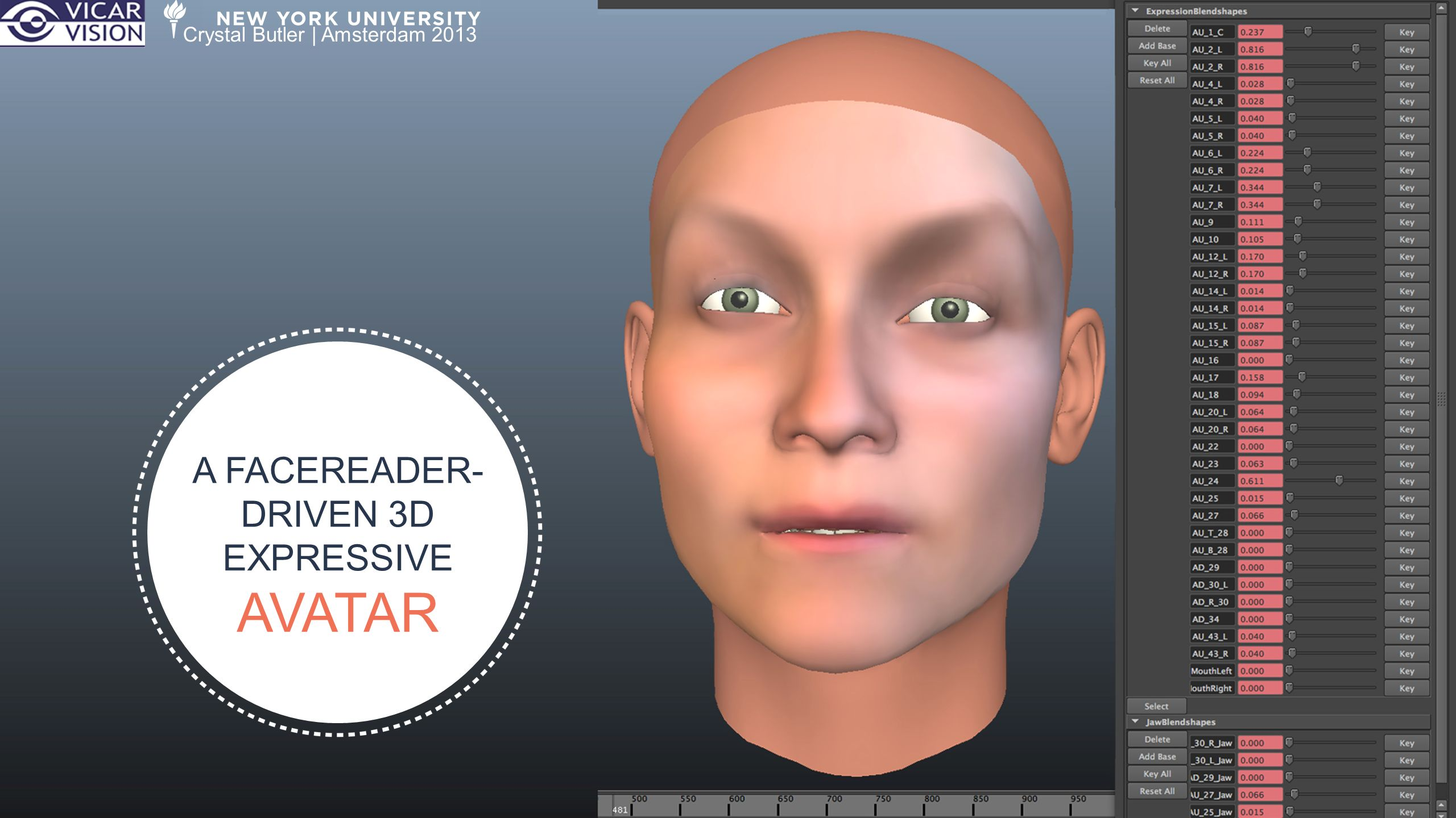 22 The Beta PRIOR TO APPLYING TEXTURES OR ADJUSTING BLENDSHAPES (AND TO SHOW OFF VOICE ACTIVATION!) 22