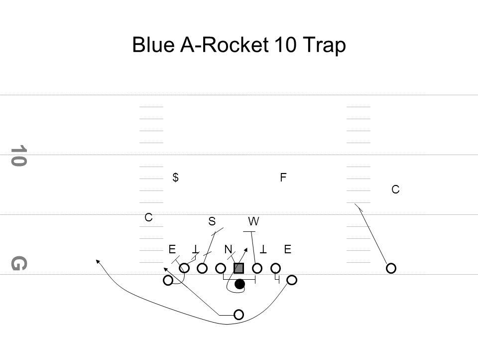 G 10 Blue A-Rocket 10 Trap E C N TT E SW C $F
