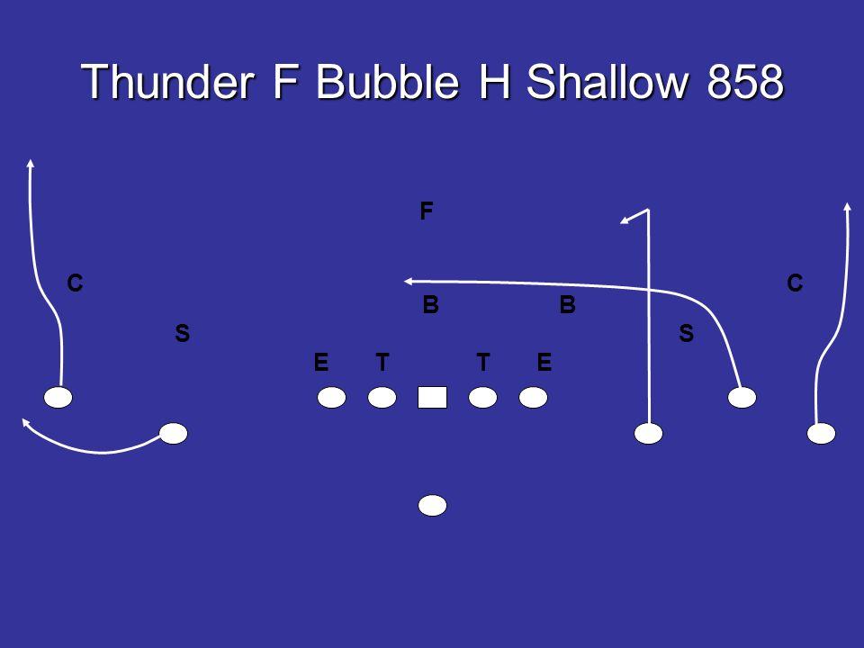 Thunder F Bubble H Shallow 858 E T T E B B SS F CC