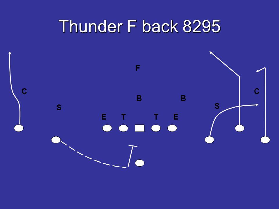 Thunder F back 8295 E T T E B B S S F CC