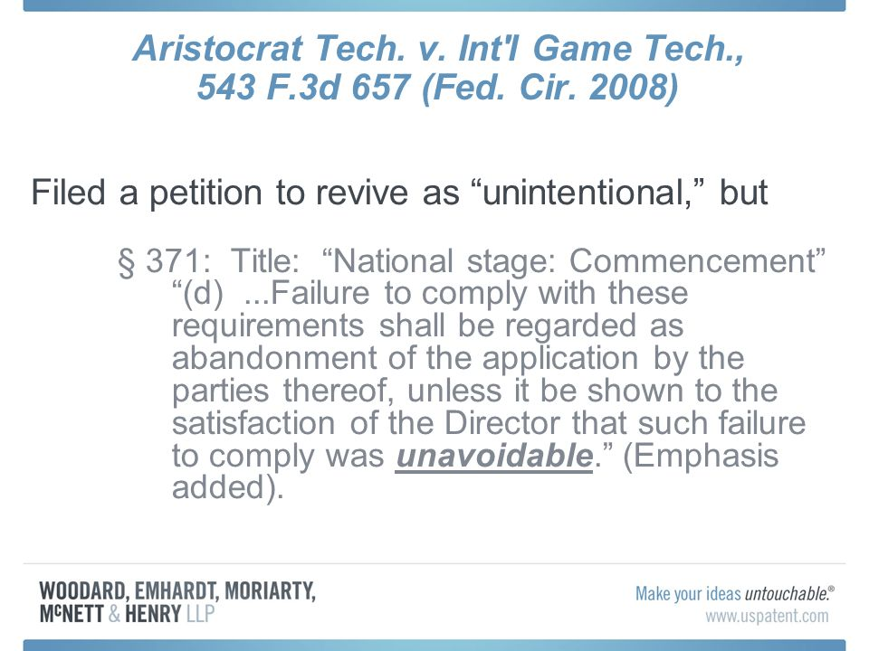 Aristocrat Tech. v. Int l Game Tech., 543 F.3d 657 (Fed.