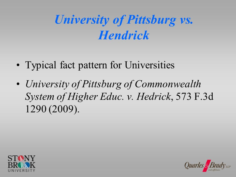 University of Pittsburg vs.