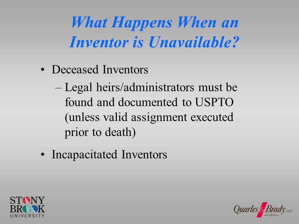 What Happens When an Inventor is Unavailable.