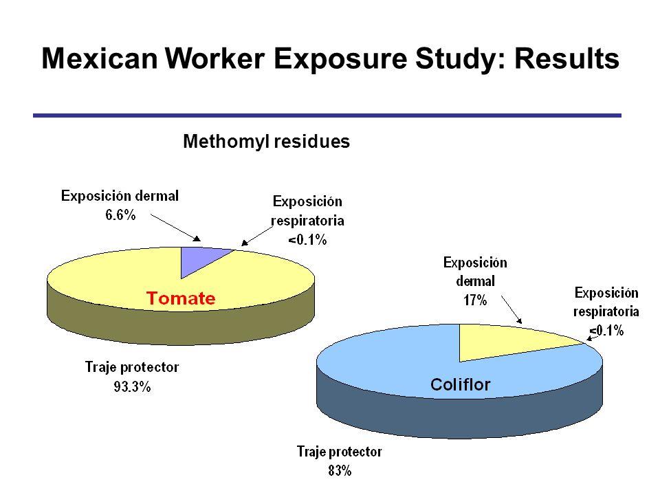 Methomyl residues Mexican Worker Exposure Study: Results