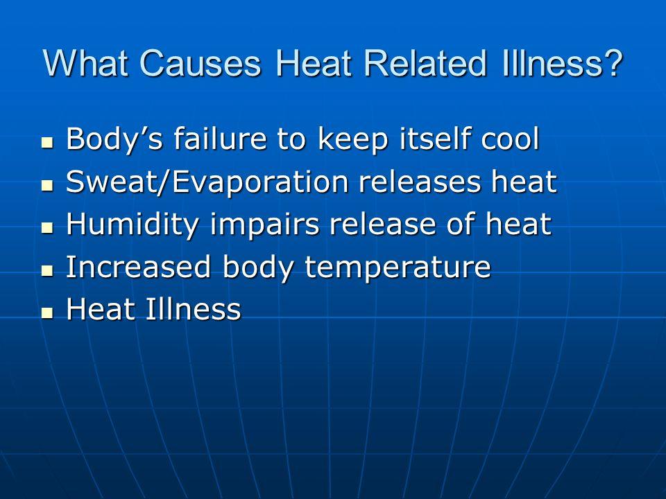 Heat Intolerance > 300 people die of heat related illness in U.S.