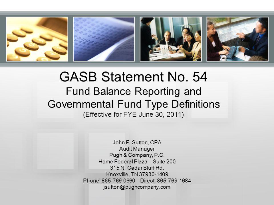 GASB Statement No.