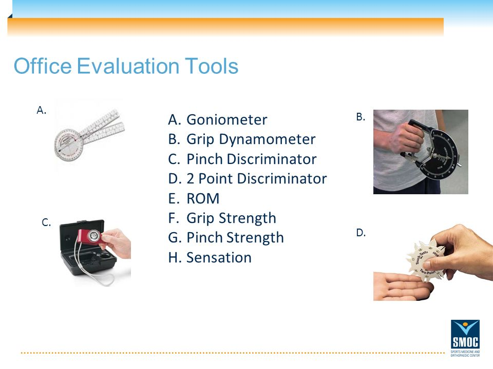 Office Evaluation Tools A. B. C. D.