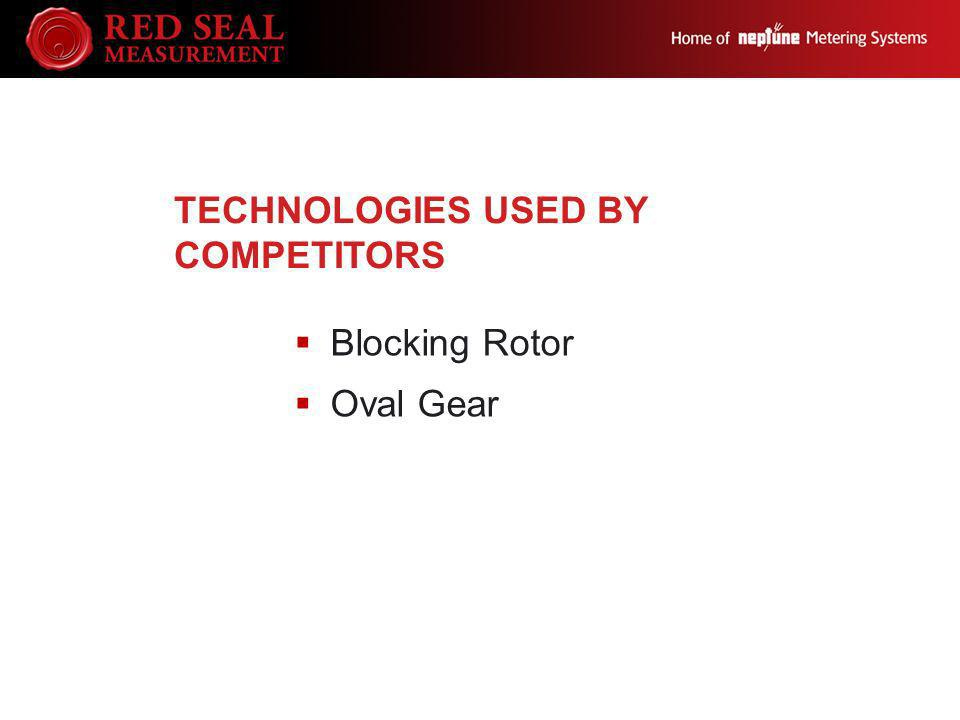 TECHNOLOGIES USED BY COMPETITORS Blocking Rotor Oval Gear