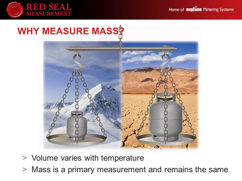 WHY MEASURE MASS? >Volume varies with temperature >Mass is a primary measurement and remains the same