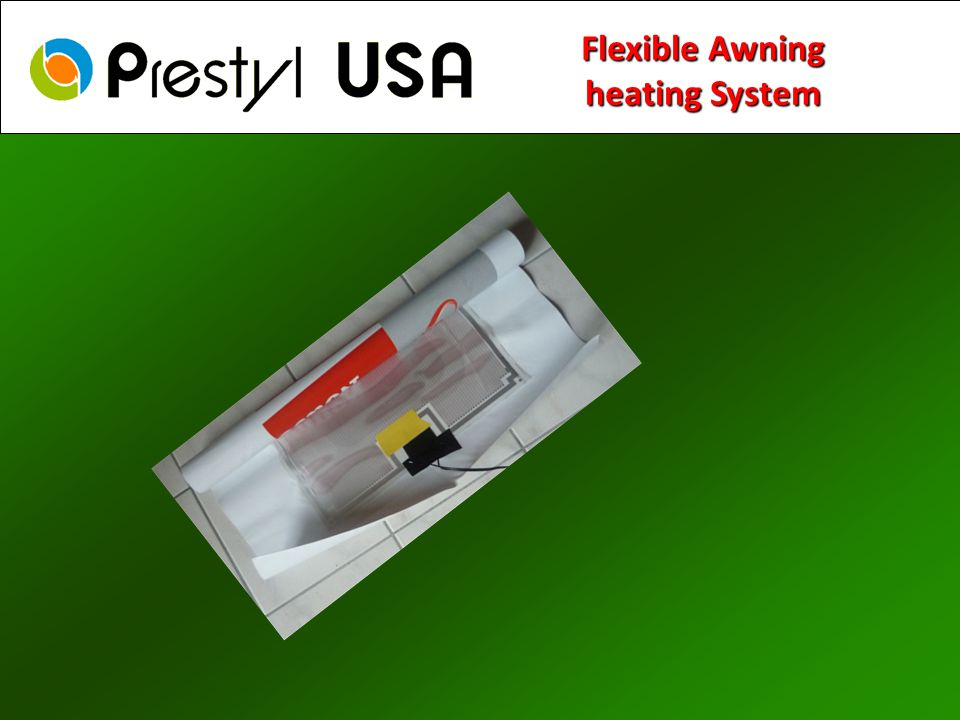 Flexible Awning heating System