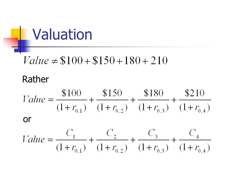 Valuation or Rather