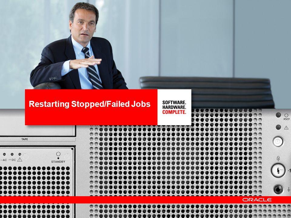 18 Restarting Stopped/Failed Jobs