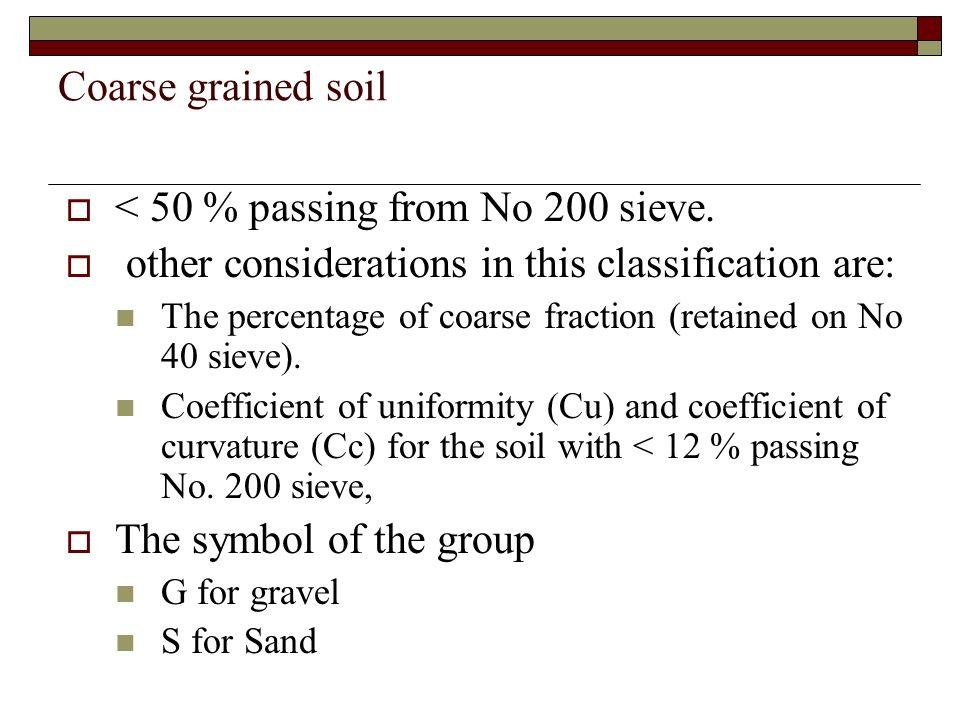 Fine grained soil > 50% passing No.