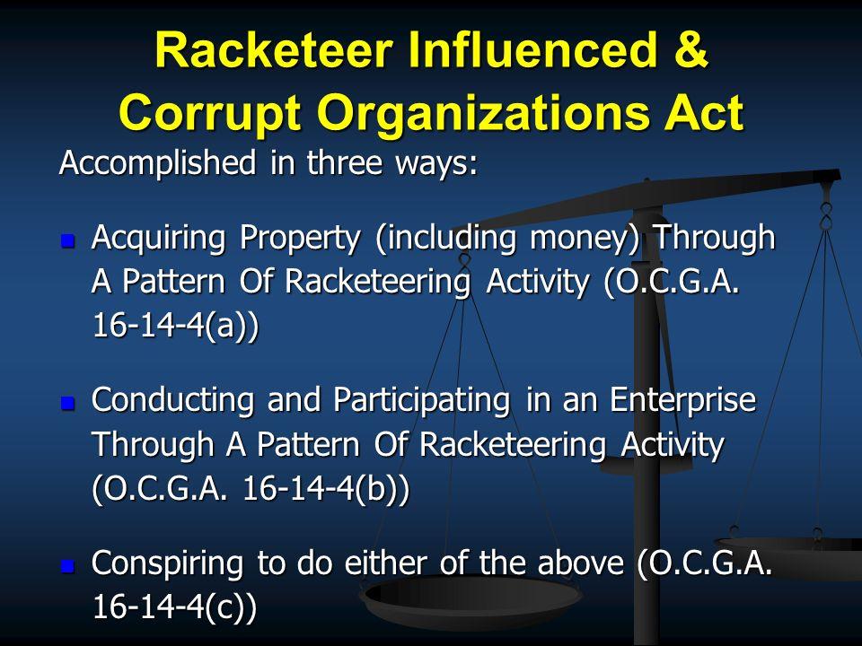 GA RICO Statute O.C.G.A.