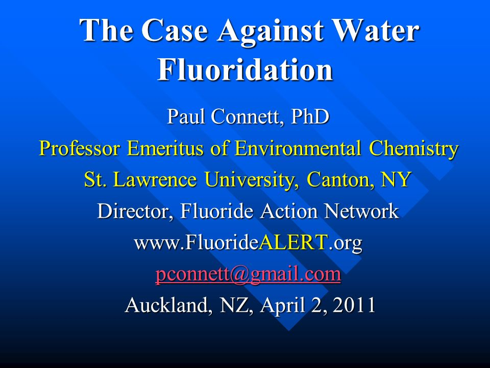 At the bottom of the chain of command We have thousands of doctors and dentists who truly BELIEVE that fluoridation works.