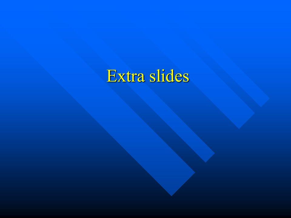 Extra slides Extra slides