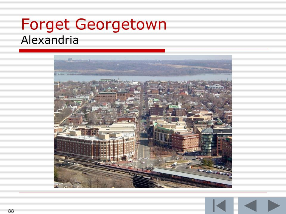 Forget Georgetown Alexandria 88