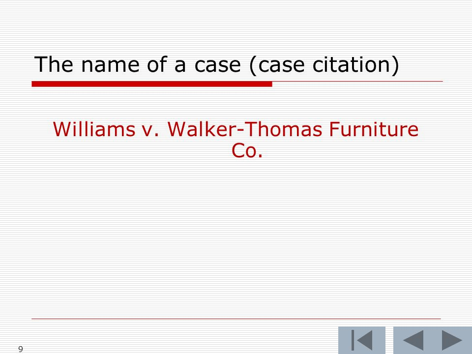 10 Williams at 53 Williams v.Walker-Thomas Furniture Co.