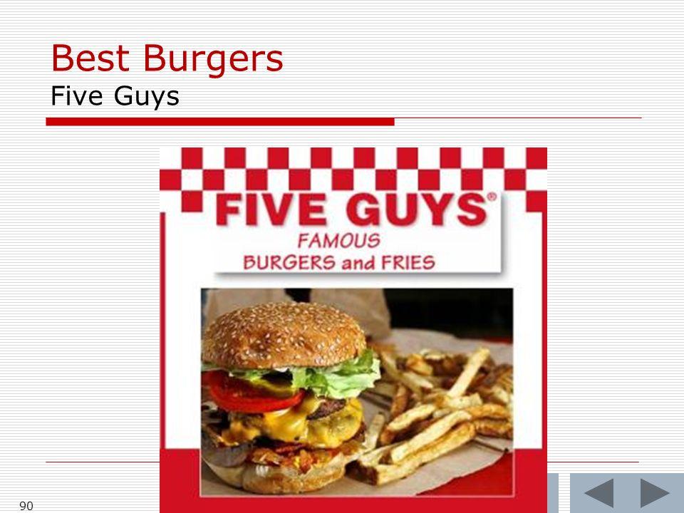 Best Burgers Five Guys 90