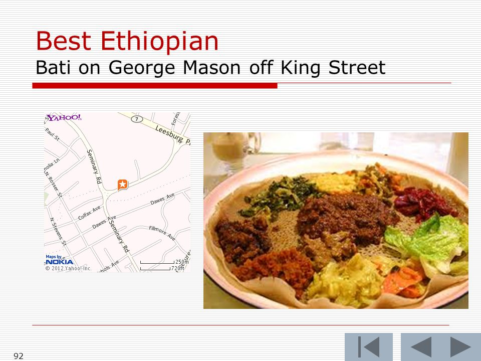 Best Ethiopian Bati on George Mason off King Street 92