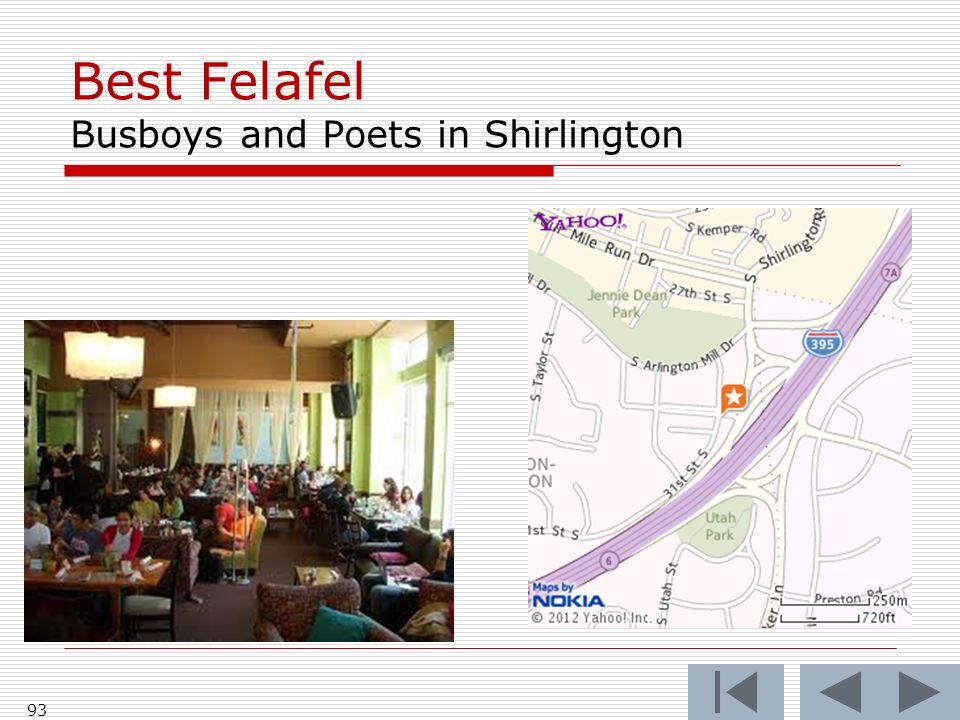 Best Felafel Busboys and Poets in Shirlington 93