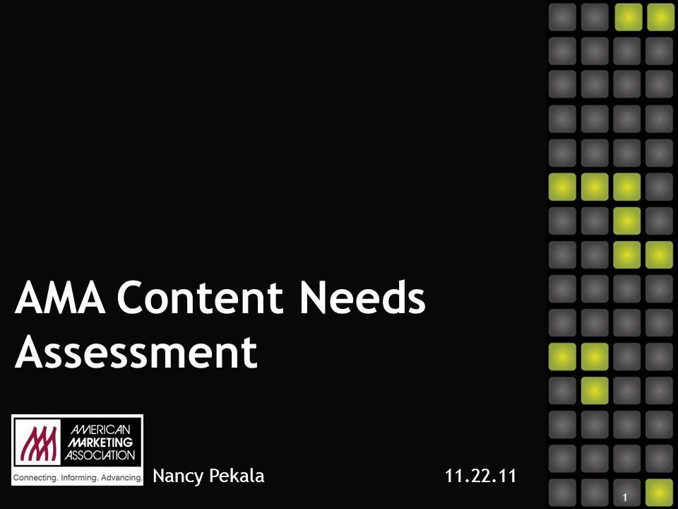 AMA Content Needs Assessment Nancy Pekala 11.22.11 1