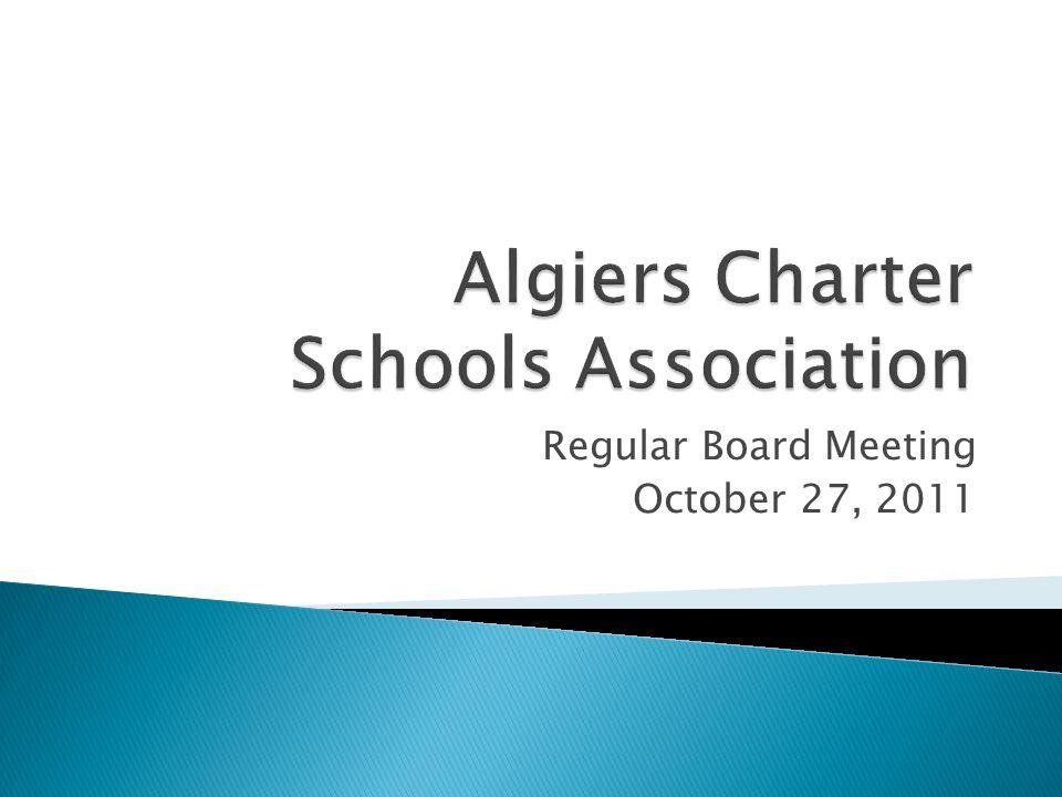 Regular Board Meeting October 27, 2011