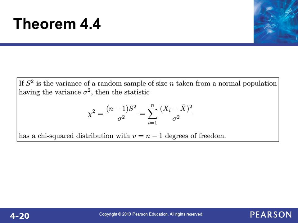 4-20 Copyright © 2013 Pearson Education. All rights reserved. Theorem 4.4
