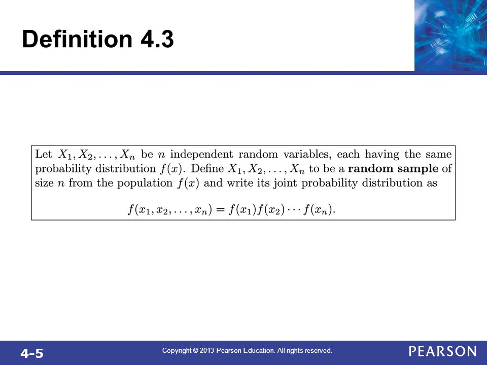 4-5 Copyright © 2013 Pearson Education. All rights reserved. Definition 4.3