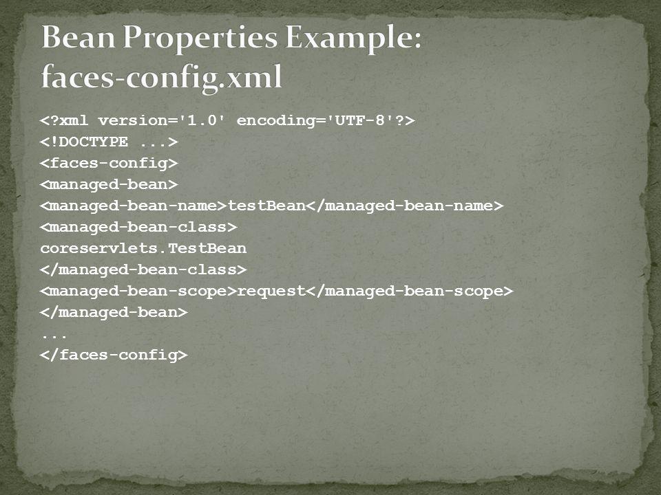 testBean coreservlets.TestBean request...