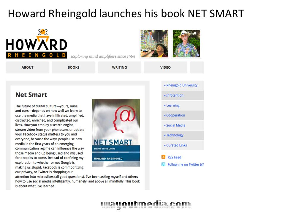 Howard Rheingold launches his book NET SMART