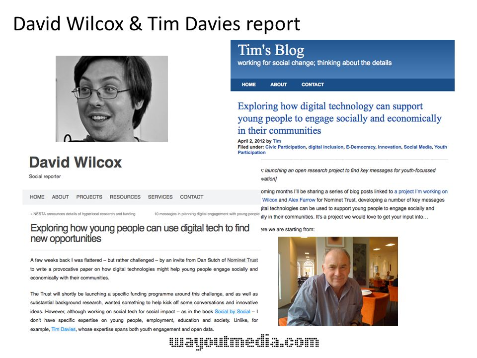 David Wilcox & Tim Davies report