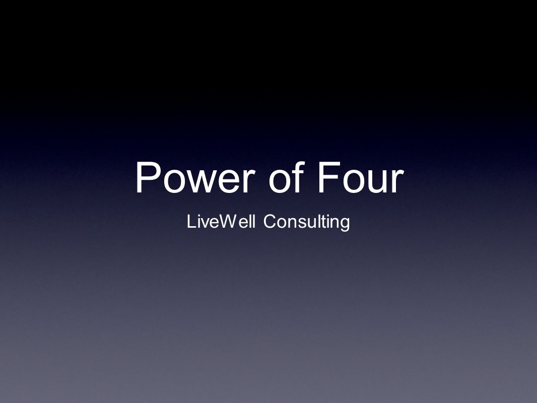 Power of Four LiveWell Consulting