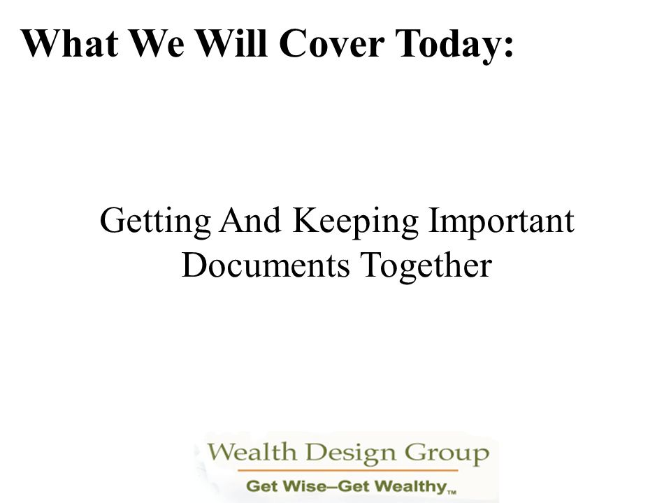 Understanding The Impact Of Your TSP In Retirement What We Will Cover Today: