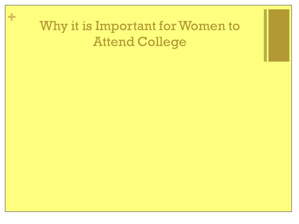 + Why it is Important for Women to Attend College